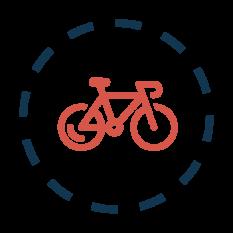 Świecę przykładem - senior na rowerze